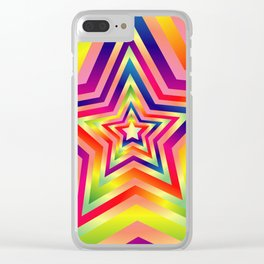 Star Colorful Rainbow Spectrums Clear iPhone Case