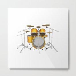 Yellow Drum Kit Metal Print