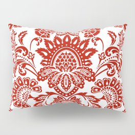 Damask in red Pillow Sham
