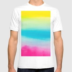 Watercolor I White Mens Fitted Tee MEDIUM