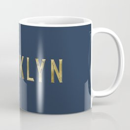 Brooklyn in Gold on Navy Coffee Mug