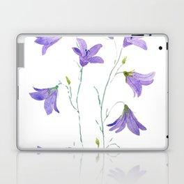 purple wildflower harebell watercolor Laptop & iPad Skin