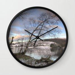 Ladybower sunset Wall Clock