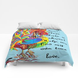 German Folklore Roosters and Husbands Comforters