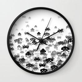 Invaded III B&W Wall Clock