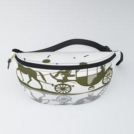 Horse-drawn carriage horse romance love Fanny Pack