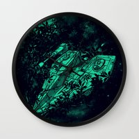 ewok Wall Clocks featuring Emergency Landing by nicebleed
