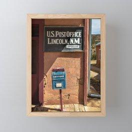 Post Office Lincoln NM Framed Mini Art Print