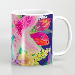 Neon Azeleas // Navy Coffee Mug