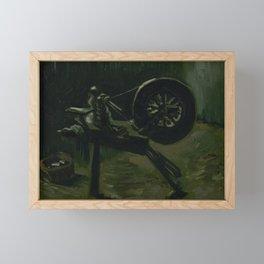 Spinning Wheel Framed Mini Art Print
