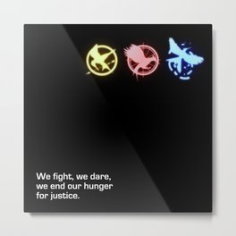 Mockingjay Quote No. 2 Metal Print