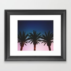 THE MOON IN MY PALMS Framed Art Print