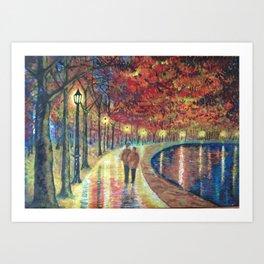 Evening love Art Print