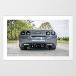 Batvette Rear Art Print