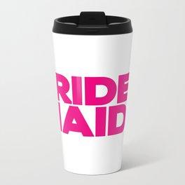 Bridesmaids Wedding Artwork - Hot Pink  Metal Travel Mug
