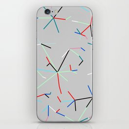 Colored Connected Lines 1 iPhone Skin