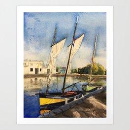 Normandy, France: The Port of Caen Art Print