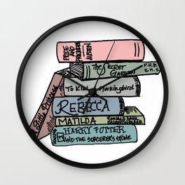 Favorite Books - In Color Wall Clock