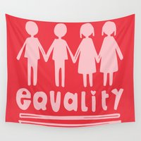 equality Wall Tapestries featuring Equality Love II by MaJoBV