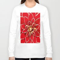 dahlia Long Sleeve T-shirts featuring Dahlia by Saundra Myles