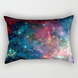 Cosmic Connection, Galaxy, Space, Nebula, Stars, Planet, Universe, Rectangular Pillow