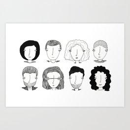 S8:Los ocho Art Print
