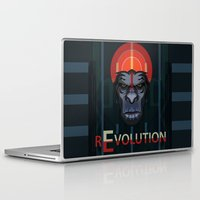 planet of the apes Laptop & iPad Skins featuring Dawn of the Apes by milanova