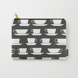 Pattern of Coffee and Tea Cups Carry-All Pouch