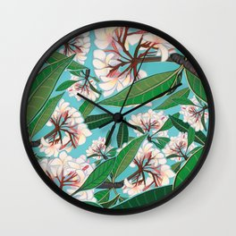 Plumerias Wall Clock