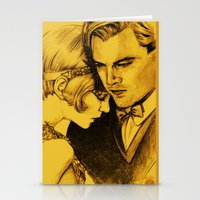 the great gatsby Stationery Cards featuring The Great Gatsby by Ilaria De Rosa