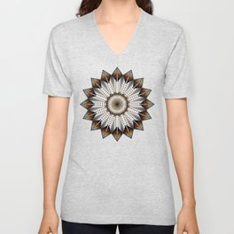 Feather Design Unisex V-Neck