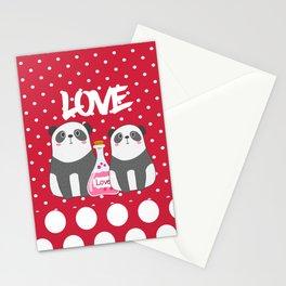 Polka Dot Panda Love Stationery Cards