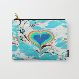 Turkish Heart Water Marbling Carry-All Pouch