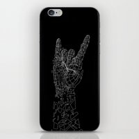 metal iPhone & iPod Skins featuring Metal by Tombst0ne