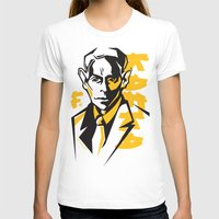 kafka T-shirts featuring Kafka portrait in Orange, Black & Yellow by aygeartist