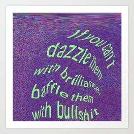 Dazzle or Baffle 'em Art Print
