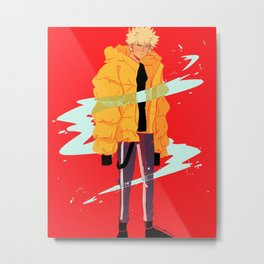 Bakugou winter coat Metal Print