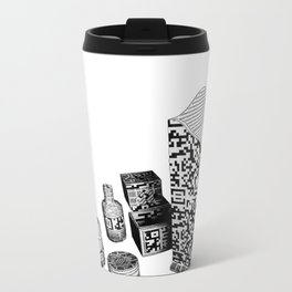 Black and White Everyday Life Internet of Things Metal Travel Mug