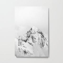 Gspaltenhorn (black and white) Metal Print