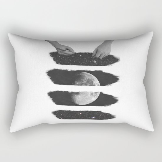Draw me the moon Rectangular Pillow