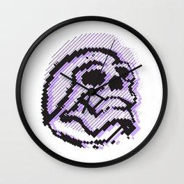 skull line Wall Clock