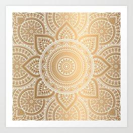 Gold Mandala 3 Art Print