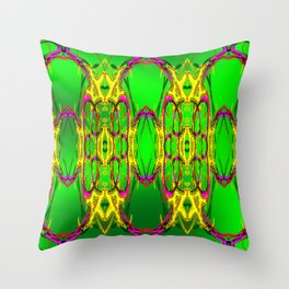 Colored fence ... Throw Pillow