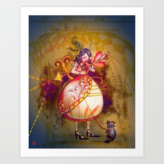 Love in Wonderland Art Print