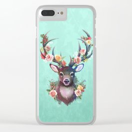 Deer of Spring Clear iPhone Case