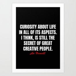Leo Burnett Quotes Art Print