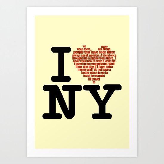 NY Art Print