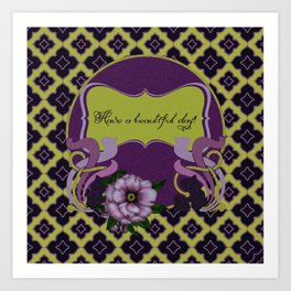 Nouveau Purple Peonies Art Print