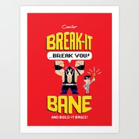 Break-It Bane w/ Build-It Bruce variant Art Print