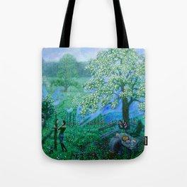 flowering tree Tote Bag